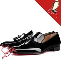Christian Louboutin DANDELION Moccasin Tassel Plain Leather V Tips Loafers & Slip-ons