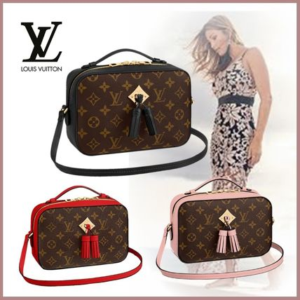 Louis Vuitton Shoulder Bags Monogram Calfskin 2WAY Plain Elegant Style Shoulder Bags