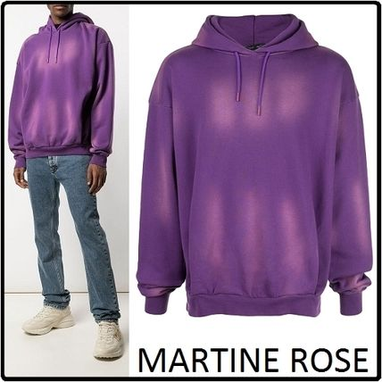 MARTINE ROSE Hoodies Pullovers Street Style Long Sleeves Cotton Logo Designers