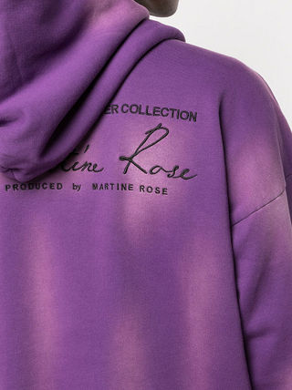 MARTINE ROSE Hoodies Pullovers Street Style Long Sleeves Cotton Logo Designers 5