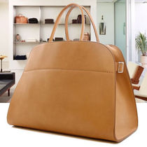 The Row Casual Style A4 Plain Leather Elegant Style Totes