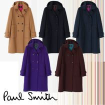 Paul Smith Wool Bi-color Plain Medium Elegant Style Duffle Coats