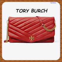 Tory Burch 2WAY Chain Leather Party Style Elegant Style Clutches