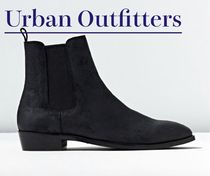 Urban Outfitters Plain Toe Unisex Suede Street Style Plain Chelsea Boots