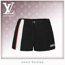 Louis Vuitton Short Stripes Casual Style Nylon Blended Fabrics Plain