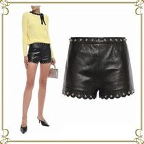 RED VALENTINO Short Casual Style Studded Plain Leather
