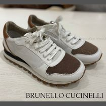 BRUNELLO CUCINELLI Suede Leather Low-Top Sneakers