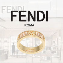FENDI Casual Style Party Style Brass Elegant Style Rings