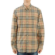 Burberry Other Plaid Patterns Long Sleeves Cotton Luxury Shirts