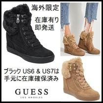 Guess Other Plaid Patterns Casual Style Faux Fur Blended Fabrics