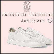 BRUNELLO CUCINELLI Suede Blended Fabrics Sneakers