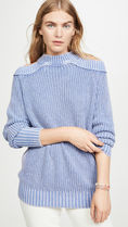 Free People Crew Neck Cable Knit Casual Style Long Sleeves Plain Cotton