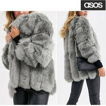 ASOS Short Faux Fur Plain Medium Cashmere & Fur Coats