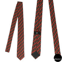 FENDI Stripes Monogram Silk Street Style Ties