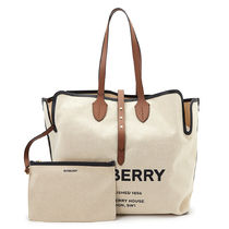 Burberry Leather Crossbody Logo Totes