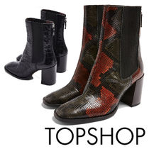TOPSHOP Casual Style Plain Other Animal Patterns Leather