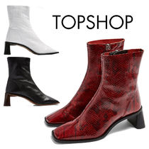 TOPSHOP Square Toe Casual Style Other Animal Patterns Leather