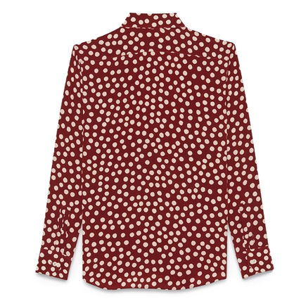Saint Laurent Shirts Button-down Dots Silk Long Sleeves Luxury Shirts 3