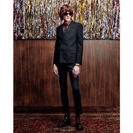 Saint Laurent Shirts Button-down Dots Silk Long Sleeves Luxury Shirts 4