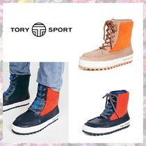 TORY SPORT Rubber Sole Casual Style Leather Boots Boots