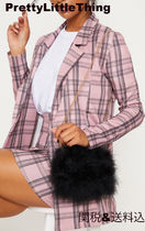 PrettyLittleThing Casual Style Faux Fur Plain Party Style Elegant Style