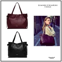 GIANNI CHIARINI A4 2WAY Plain Leather Totes