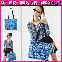 DOLLS KILL Leopard Patterns Casual Style Totes