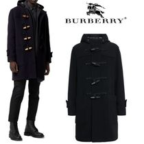Burberry Other Check Patterns Wool Plain Long Duffle Coats