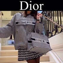 Christian Dior Zigzag Casual Style Canvas Street Style 2WAY Handmade