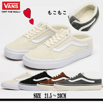 VANS OLD SKOOL Unisex Suede Blended Fabrics Plain Shoes