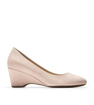 Cole Haan Plain Toe Plain Elegant Style Wedge Pumps & Mules
