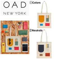 OAD NEW YORK Casual Style Canvas A4 2WAY Plain Totes