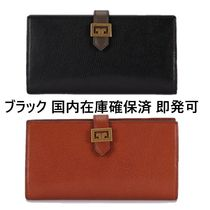GIVENCHY GV3 Plain Leather Long Wallets