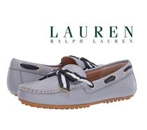 Ralph Lauren Round Toe Leather Logo Loafer & Moccasin Shoes