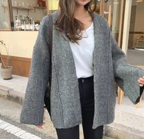 Casual Style Wool Street Style Long Sleeves Plain Medium