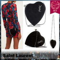 Saint Laurent Suede 2WAY 3WAY Chain Plain Party Style Elegant Style