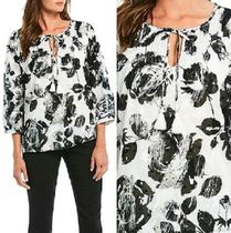 Karl Lagerfeld Flower Patterns Cropped Cotton Shirts & Blouses