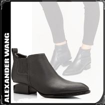 Alexander Wang Casual Style Plain Leather Block Heels Chelsea Boots