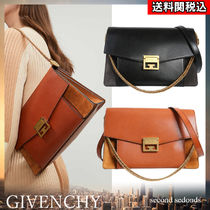GIVENCHY GV3 Suede Blended Fabrics 2WAY Chain Plain Leather Party Style