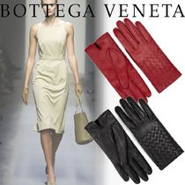 BOTTEGA VENETA Plain Leather Leather & Faux Leather Gloves