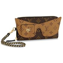 Louis Vuitton MONOGRAM Monogram Canvas Leather Long Wallet  Chain Wallet Logo