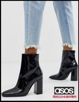 PUBLIC DESIRE Casual Style Faux Fur Block Heels Ankle & Booties Boots