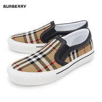 Burberry Other Check Patterns Fur Low-Top Sneakers