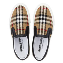 Burberry Other Plaid Patterns Fur Low-Top Sneakers