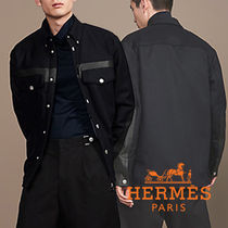 HERMES Cashmere Long Sleeves Shirts
