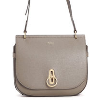 Mulberry Amberley  Plain Leather Elegant Style Shoulder Bags