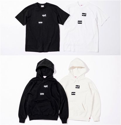 Supreme More T-Shirts Unisex Street Style U-Neck Collaboration Plain Cotton 2