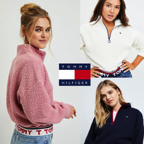 Tommy Hilfiger Short Street Style Long Sleeves Plain Cropped