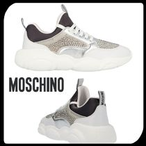 Moschino Round Toe Rubber Sole Lace-up Casual Style Street Style