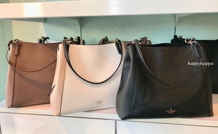 A4 Plain Leather Totes
